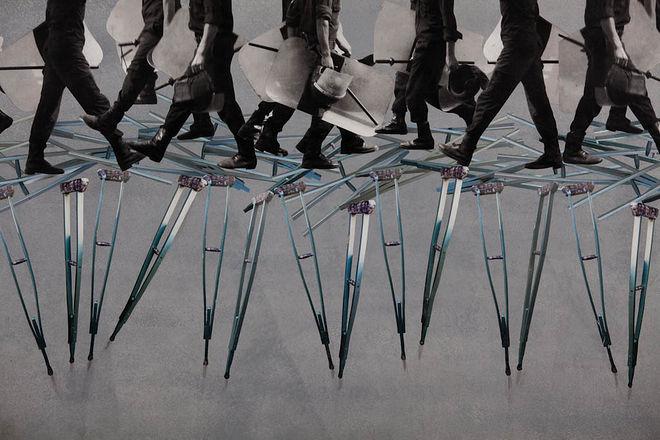 © Lutfi Huda Marching-on Crutches -  detail