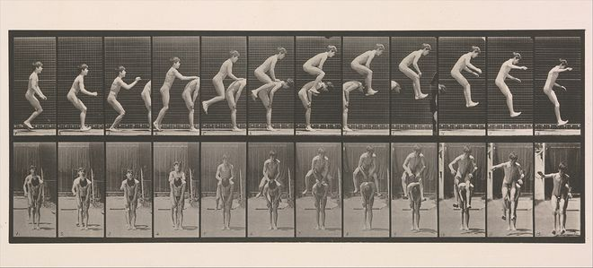 Eadweard Muybridge. Boys Playing Leap Frog, 1883–1886. The Metropolitan Museum of Art, New York
