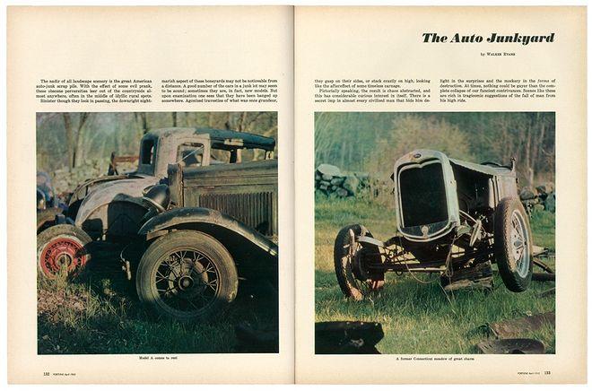 © Walker Evans and The Metropolitan Museum of Art. The Auto Junkyard, Fortune