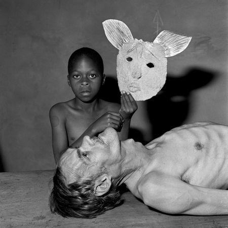 © Roger Ballen, Tommy, Samson and a mask, 2000