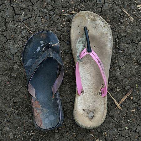 © Shannon Jensen. Makka Kalfar walked for ten weeks from Al Ahmer. She is in her 30s. Из серии A Long Way, 2012