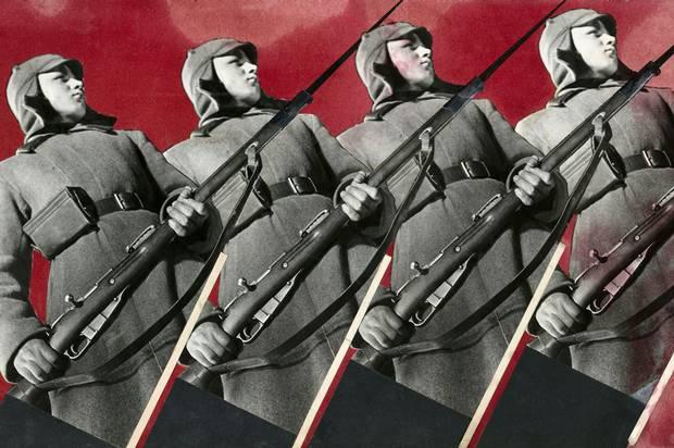 Варвара Степанова. Красноармейцы, 1930