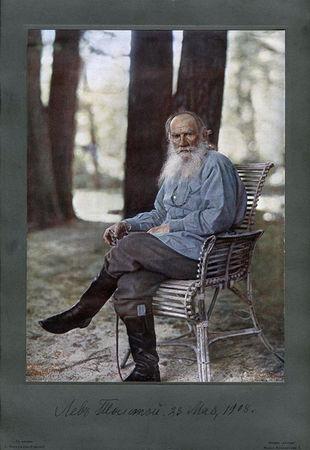 Сергей Прокудин-Горский. Портрет Льва Толстого, 1908