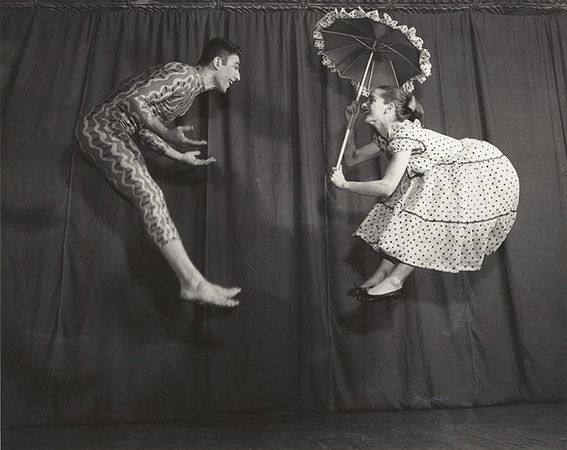 Dancers Emily Frankel and Mark Ryder, Vishniac Portrait Studio, New York, early 1950s