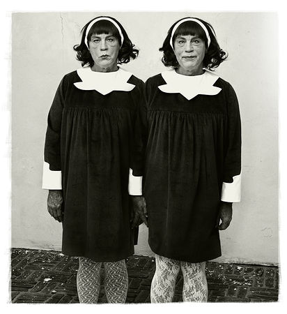 © Sandro Miller. Diane Arbus, Identical Twins, Roselle, New Jersey (1967), 2014