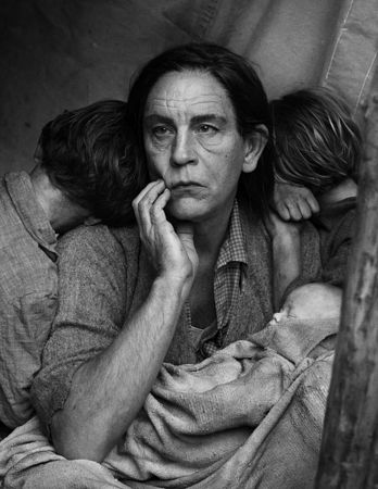 © Sandro Miller. Dorothea Lange, Migrant Mother, Nipomo, California (1936), 2014