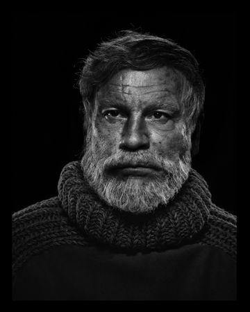 © Sandro Miller. Yousuf Karsh, Ernest Hemingway (1957), 2014