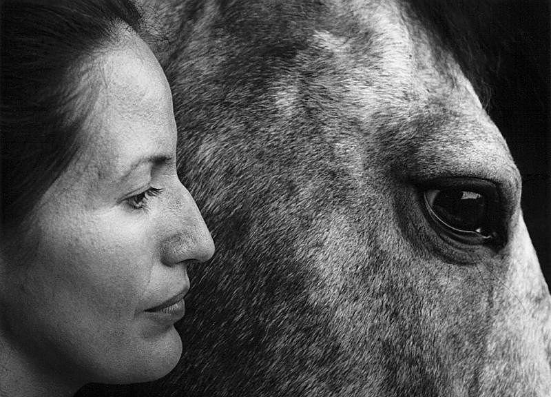©Флор Гардуньо. «Карла и конь, USA, 1993»