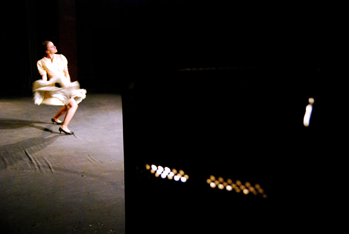 На репетиции спектакля «Не танцы», режиссер – Евгений Корняг. Фото: Виктор Гилицкий