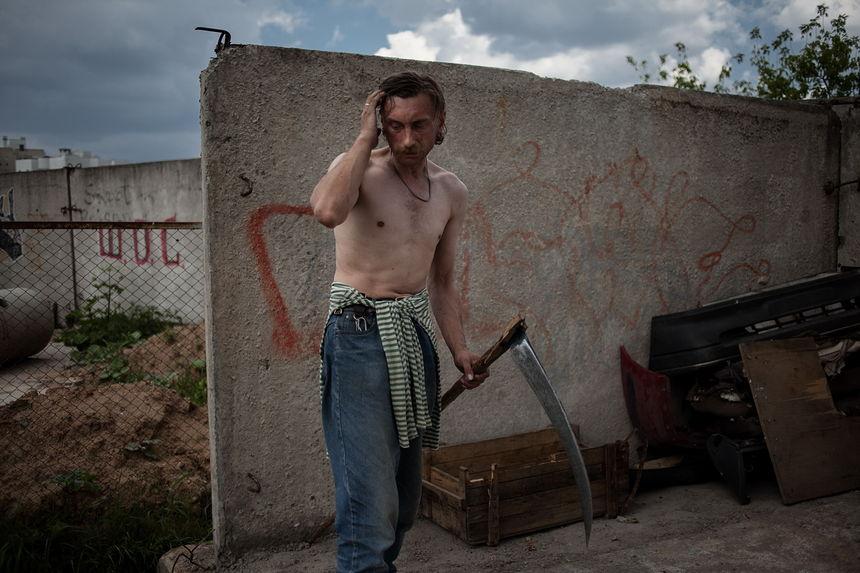 ©Максим Сарычев. «Сергей Мацкойць, 42 года. Активист гражданской кампании «Европейская Беларусь». Арестован на 20 суток»