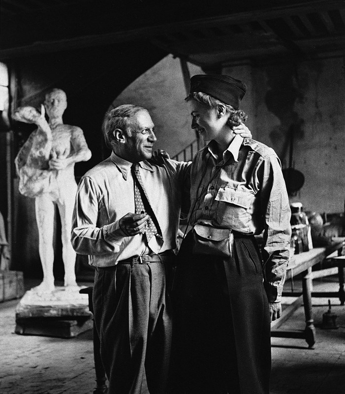 Lee Miller and Picasso after the liberation of Paris, 1944, Courtesy of Lee Miller Archives