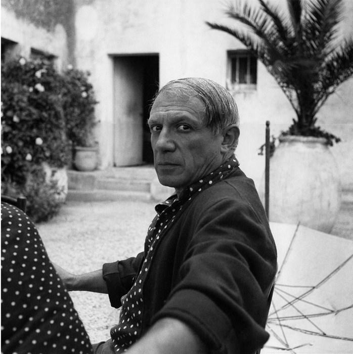 Picasso at the Hotel Vaste Horizon, Mougins, France, 1937, Courtesy of Lee Miller Archives