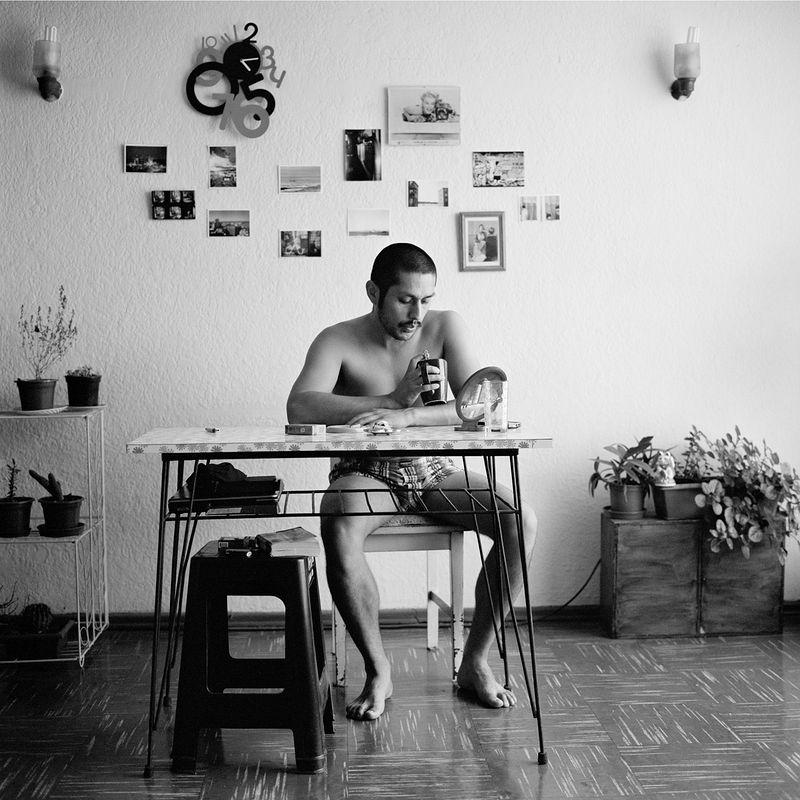 ©Валерий Кацуба. «Утро. Хавьер. Сантьяго де Чили. 2012. 35 х 35 см. Негатив. Inkjet»