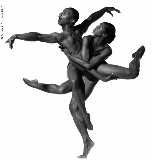 Vikkia Lambert and Uri Sands #1, Alvin Ailey American Dance Theater, photographed in New York City, September 1996.Photograph by Howard Schatz from SCHATZ IMAGES_ 25 YEARS ©Howard Schatz and Beverly Ornstein 2015