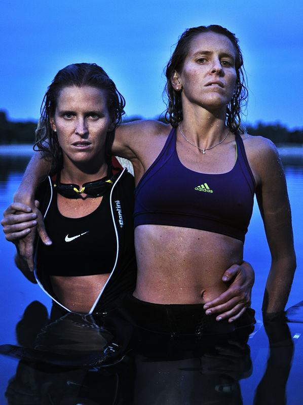 ©Эрик Ваззолер. «Марион и Селин Федер. Франция. Триатлон»