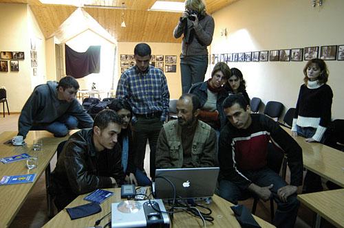 Студенты и ведущий курса Рубен Мангасарян, Ереван