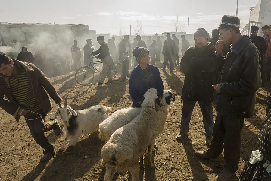 ©Анзор Бухарский. «Скотный рынок»