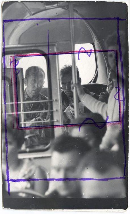 ©Дашевский Михаил Аронович. «После выходного. 1970 (контрольный отпечаток)»