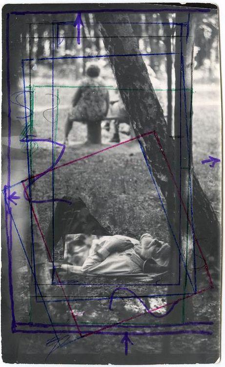 ©Дашевский Михаил Аронович. «Летние сны. 1965 (контрольный отпечаток)»
