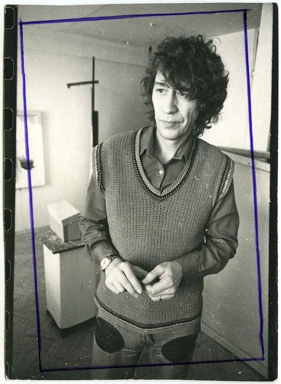 ©Дашевский Михаил Аронович. «Художник Иван Чуйков. 1970-е (контрольный отпечаток)»