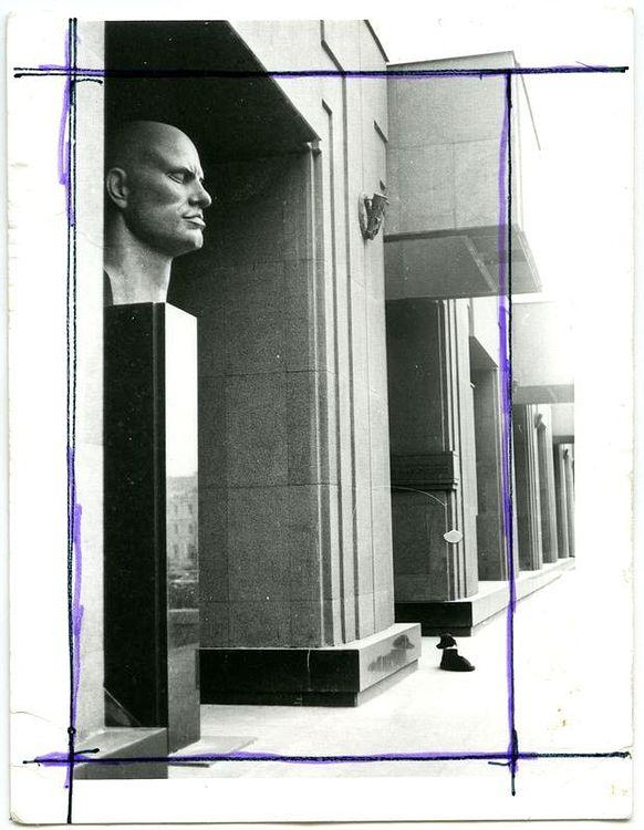 ©Дашевский Михаил Аронович. «Поэт и Щен. 1990 (контрольный отпечаток)»