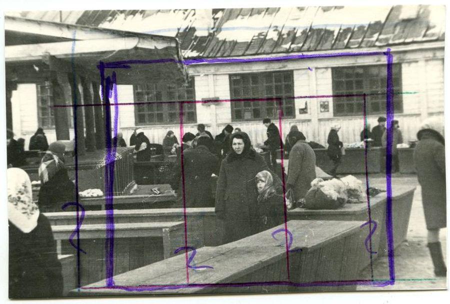 ©Дашевский Михаил Аронович. «Трудные судьбы (Чебоксары). 1972 (контрольный отпечаток)»