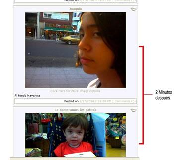 Мой сын Висенте, двумя минутами позже мой сых Иоаким. Нижняя фотогрфия сделана раньше. Публикация JG в Textamerica