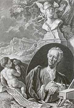 Жорж Демари, 1744. Портрет придворного художника Франца Иоакима Бейха с его инструментами. (Из книги Дэвида Хокни «Тайное знание»)