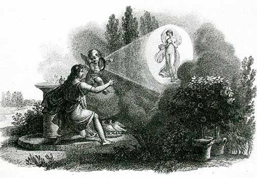 Неизвестный. Чудесное Зеркало, 18 век, гравюра, Международный Музей фотографии в George Eastman House, Rochester, N.Y.