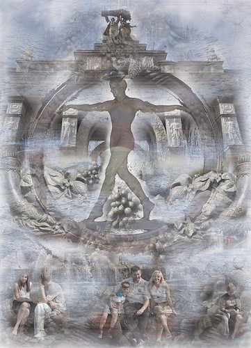 ©Валера и Наташа Черкашины. «Гимнастка на бревне (оригинал: бумага, 75х100 см)»