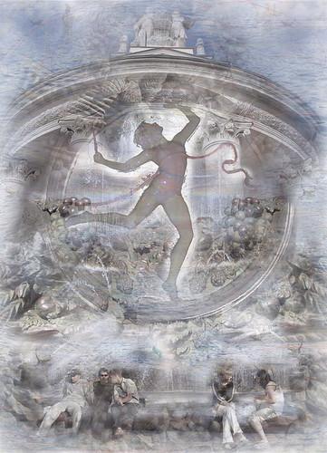 ©Валера и Наташа Черкашины. «Гимнастка с лентой (оригинал: бумага, 75х100 см)»