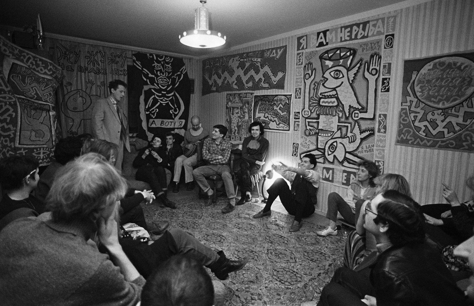 Андрей Безукладников. Совриск. Квартирная выставка Георгия Литичевского. 1987