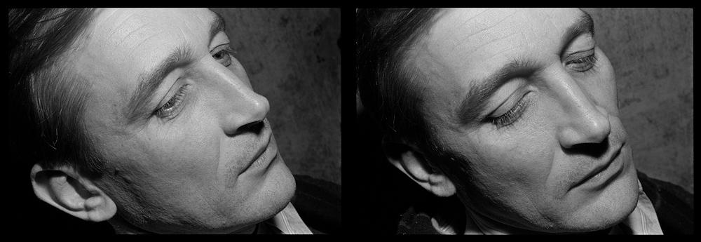 Андрей Безукладников. Близнецы. Черная линия – Время. Художник Николай Филатов. Москва. 1988