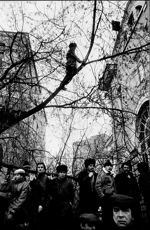 Артем Чернов. Артем Чернов. На митинге. Москва 1990