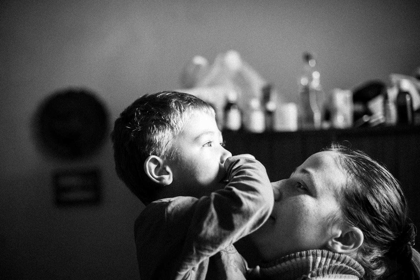 "Arik Shraga. ""Joint"" Families: The Stories of Love. Chishinau. Vova and his mom"