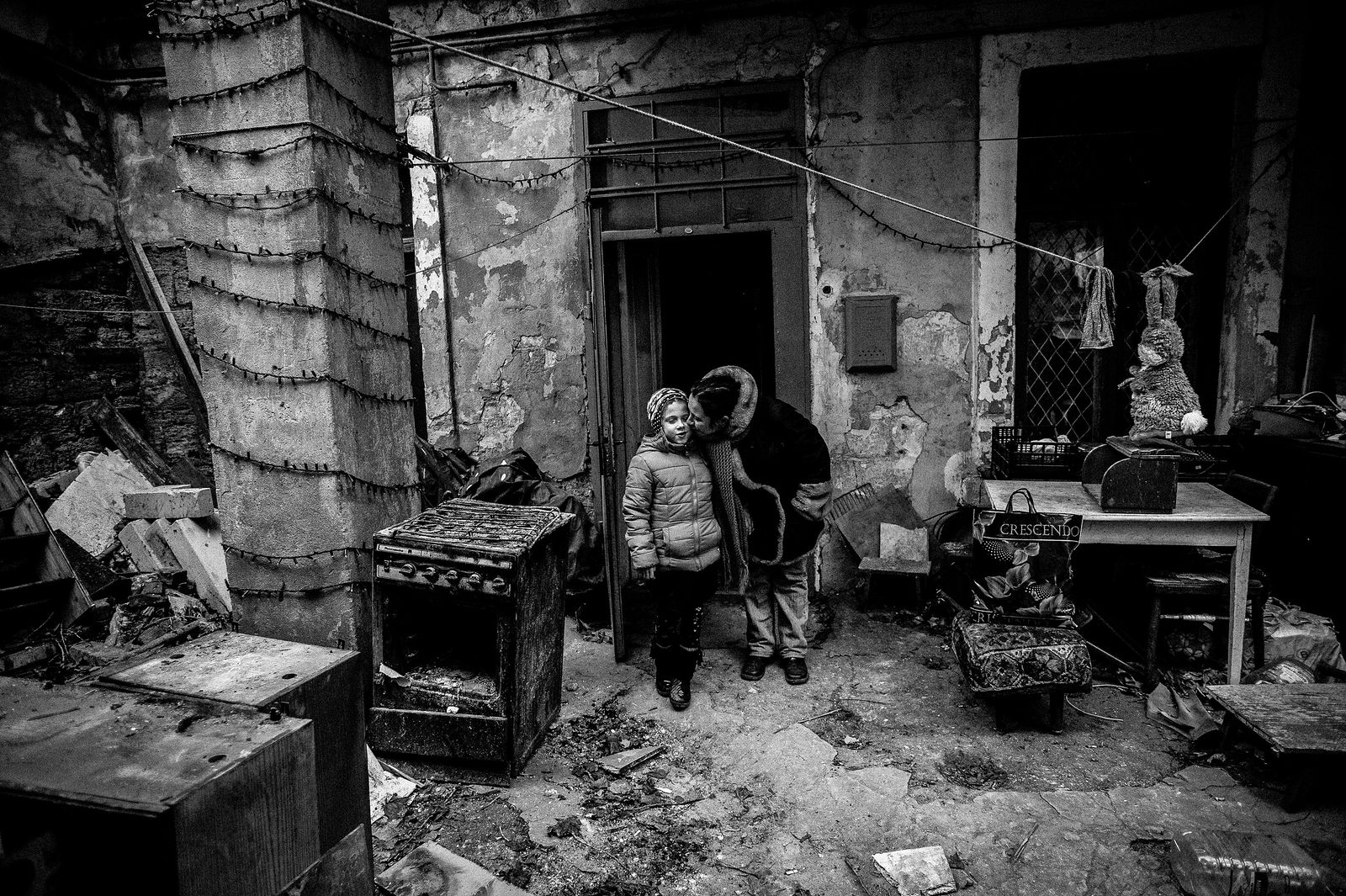 """Arik Shraga. """"Joint"""" Families: The Stories of Love. 2013. Ukraine, Odessa. Lera and her mother"""