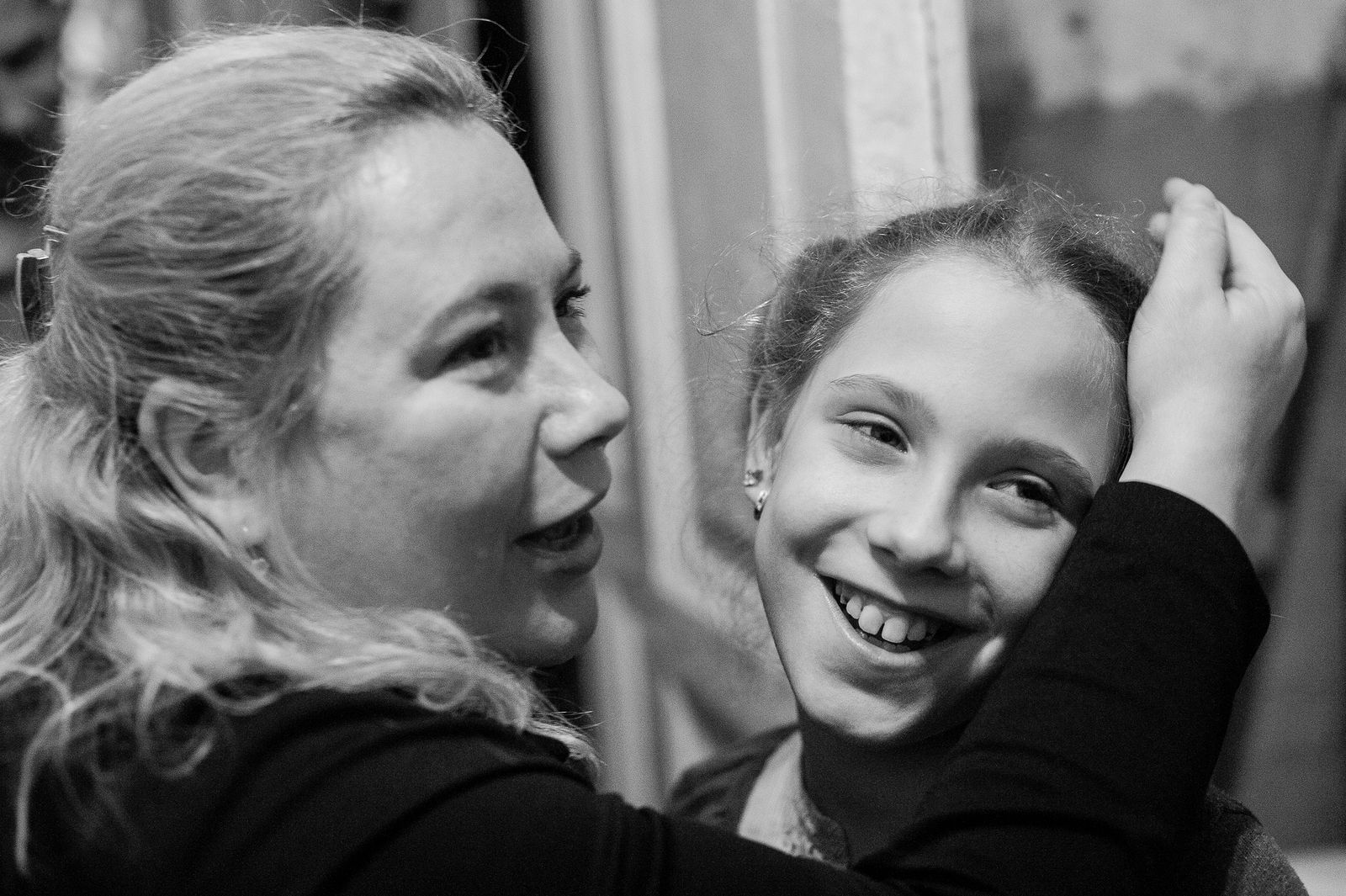 """Arik Shraga. """"Joint"""" Families: The Stories of Love. 2016. Ukraine, Odessa. Lera and her mother"""
