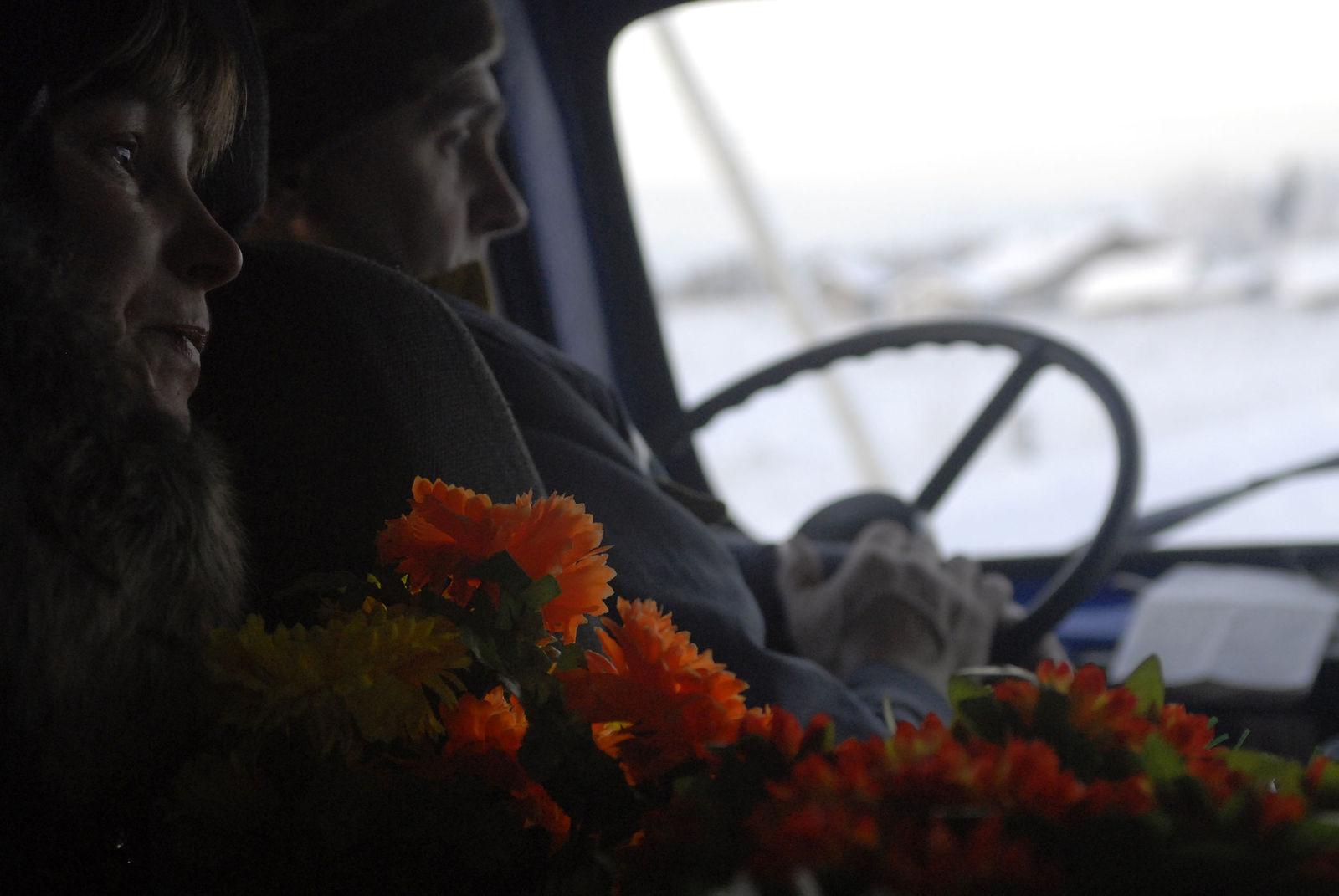 Arik Shraga. Neglected in the village. Tcheshegora village. Funerals