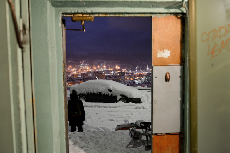 sergey ermokhin. polar night. Murmansk
