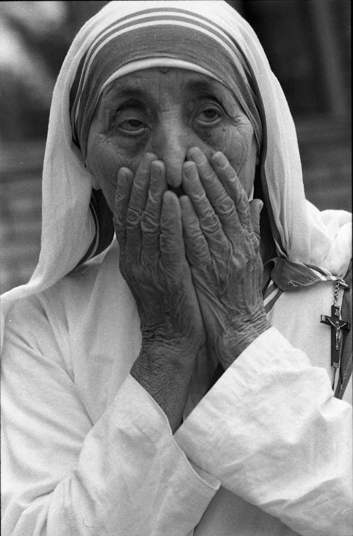 Сергей Борисов. portrait. Мать Тереза1989