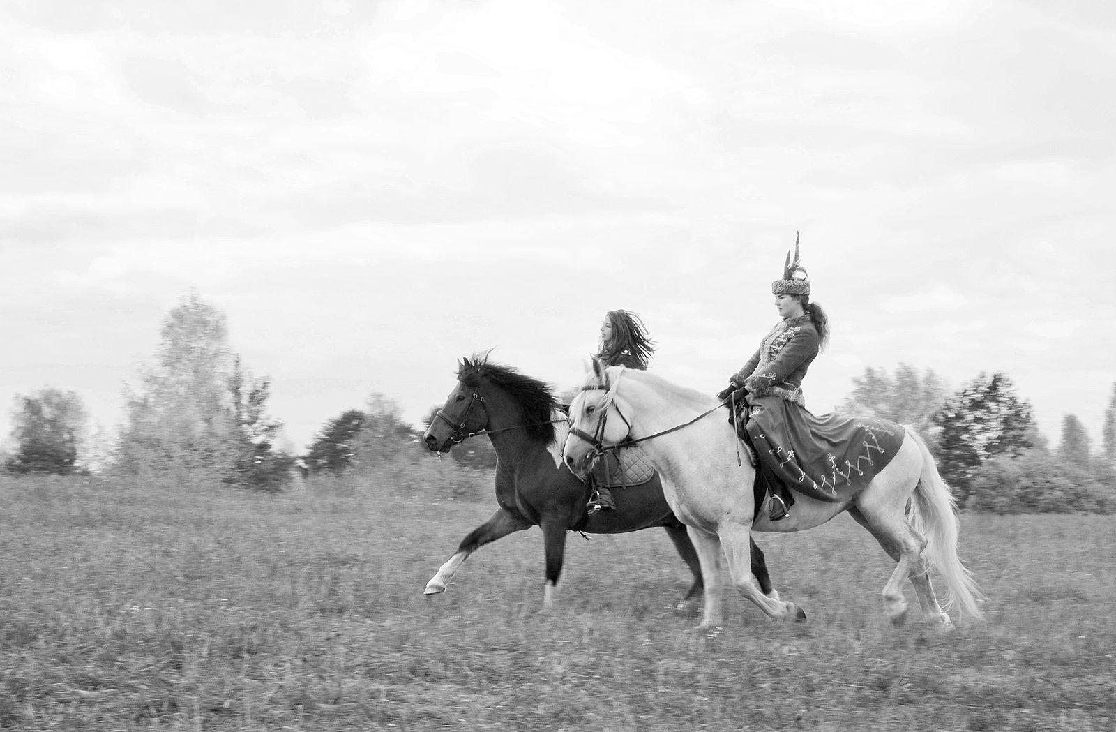 Игорь Нестеров. Конные охоты. Юные охотницы