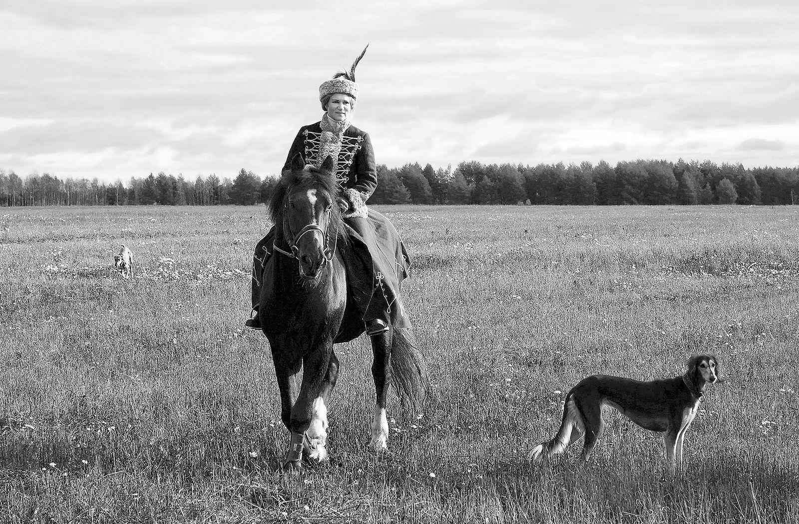 Игорь Нестеров. Конные охоты. Зверя не подняли