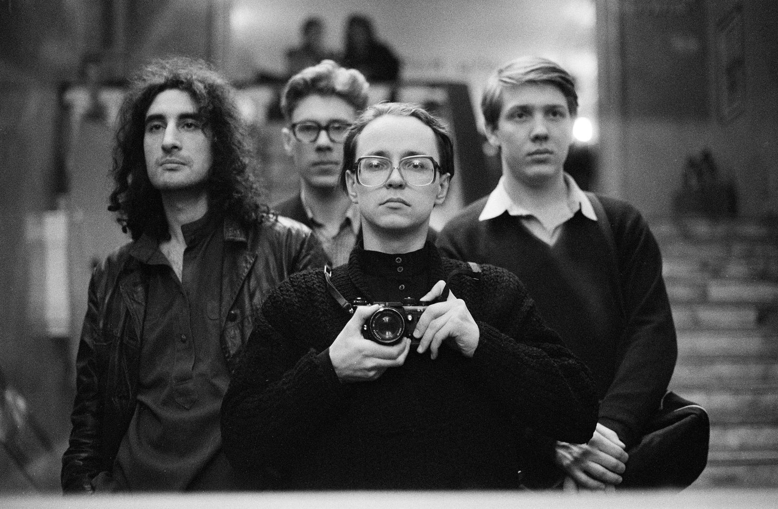 автопортрет с Борисом Юханановым и братьми Олейниковыми