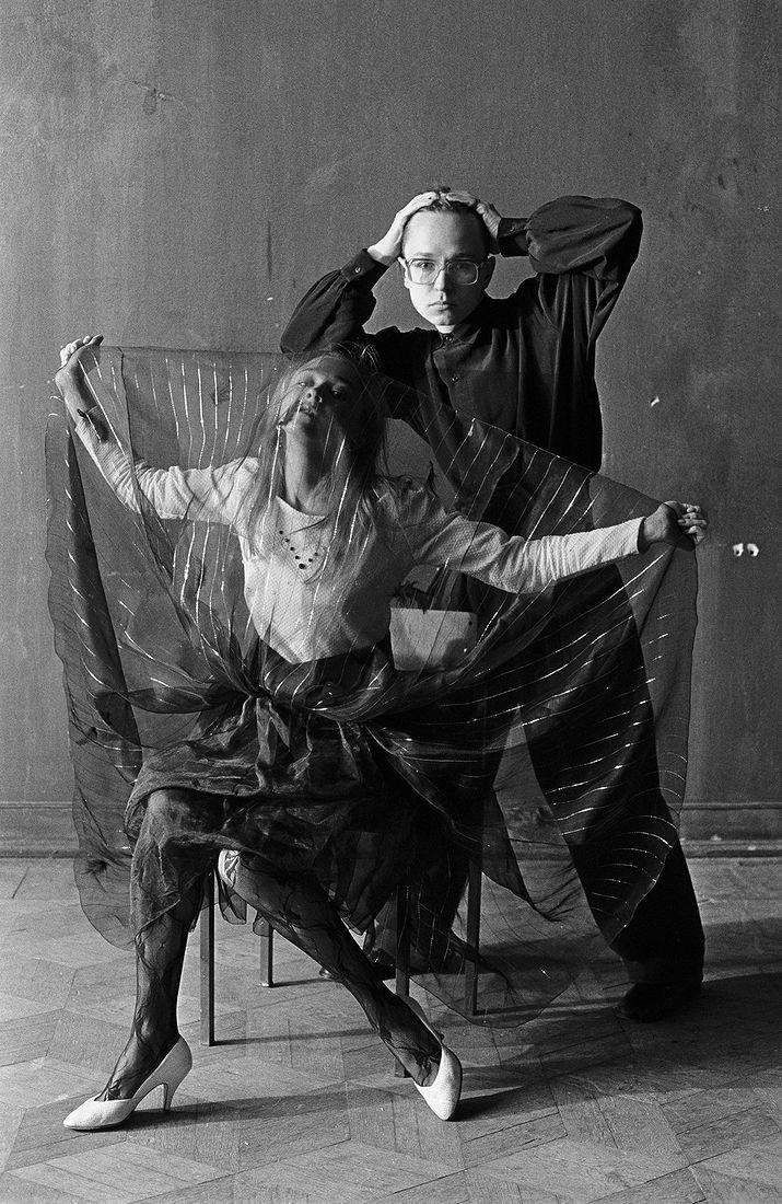 Андрей Безукладников. Портреты. Автопортрет (Наталия Байдина и Андрей Безукладников). 1988