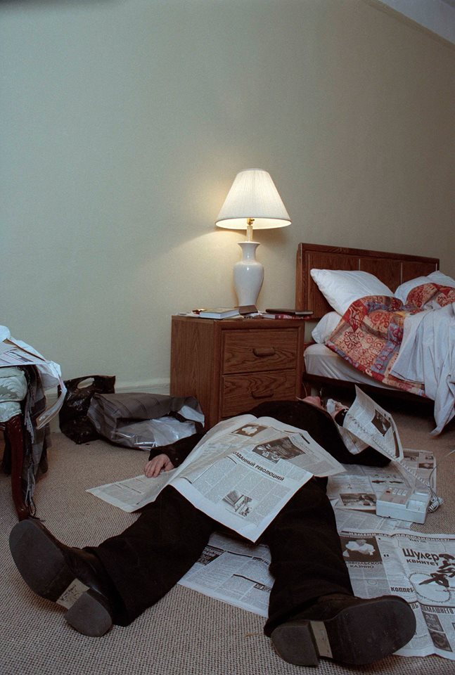 Pavel Antonov. Portraits of Artists II. Андрей Вознесенский, отель Челси, Нью-Йорк 2001